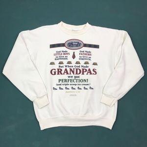 Vintage When God Made Grandpas... Sweatshirt - Med